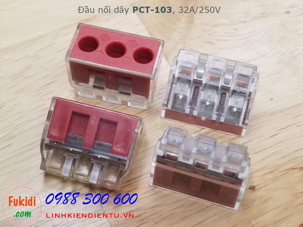 Cút nối dây, đầu nối dây PCT-103 32A 250V 4KW