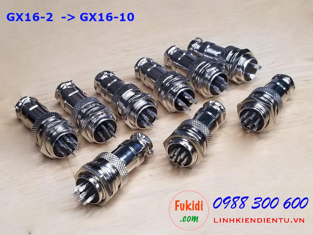 GX16-6 socket ra sáu dây, đầu hàn chì, chống thấm, phi 16mm