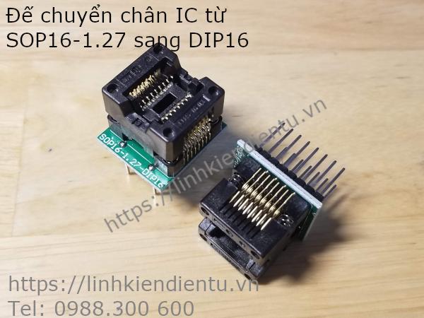 Socket chuyển đổi chân IC từ SOP16 sang DIP16