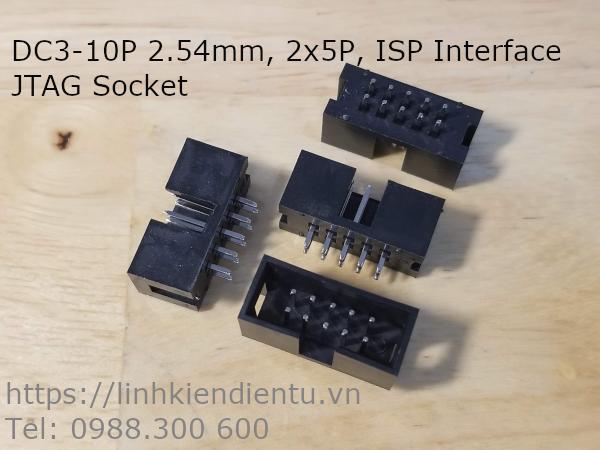 Cổng IDC DC3-10P 2x5P DIP 2.54mm chân thẳng