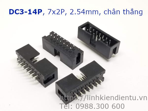 DC3-14P 7x2P DIP 2.54mm chân thẳng