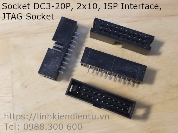 Cổng IDC DC3-20P 2x10P DIP 2.54mm chân thẳng