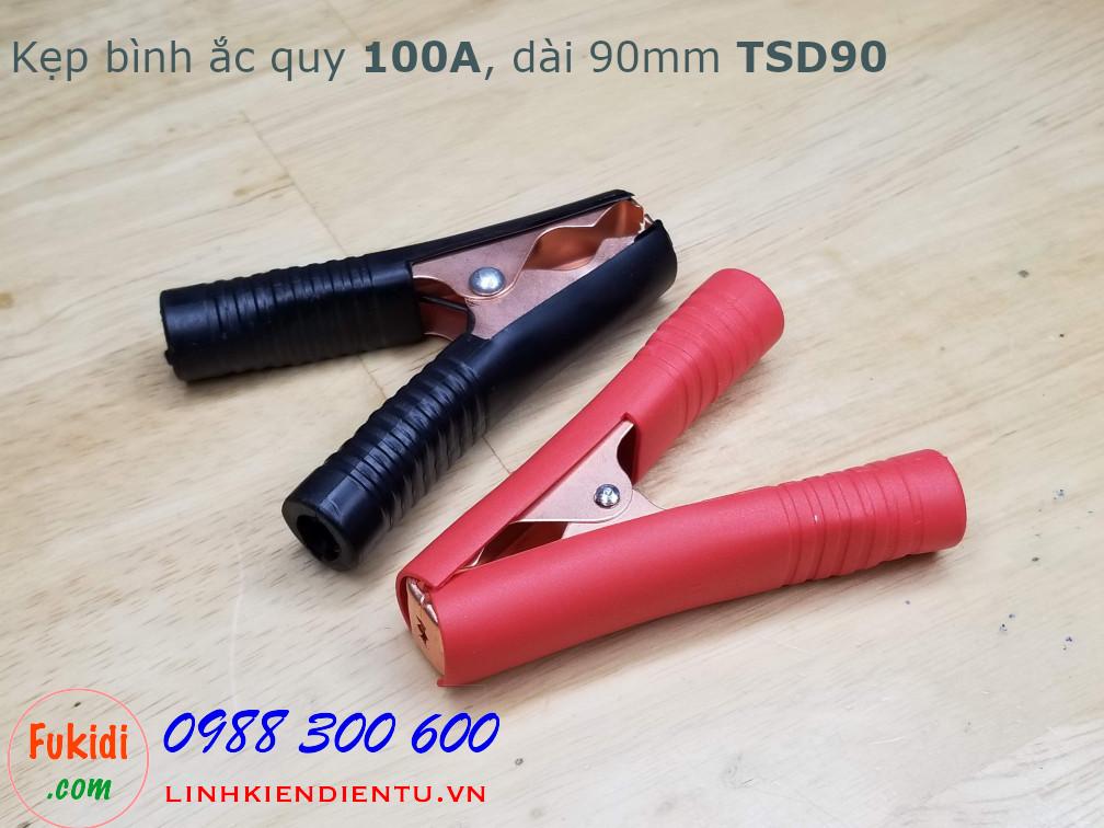 Kìm kẹp bình ắc quy 100A, thân đồng dài 90mm, mỏ rộng 35mm model TSD90