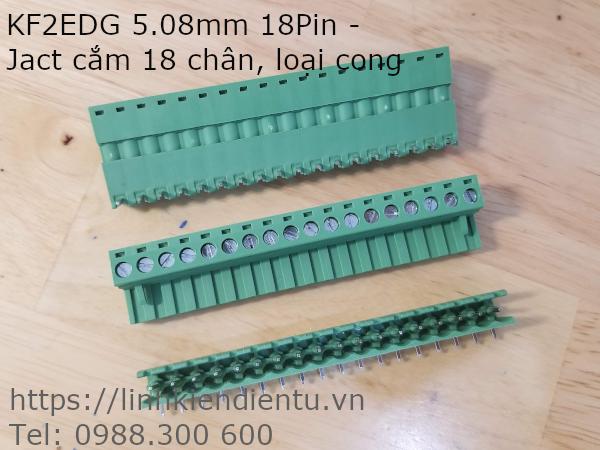 KF2EDG 5.08mm 18Pin - Jact cắm 18 chân, loại cong