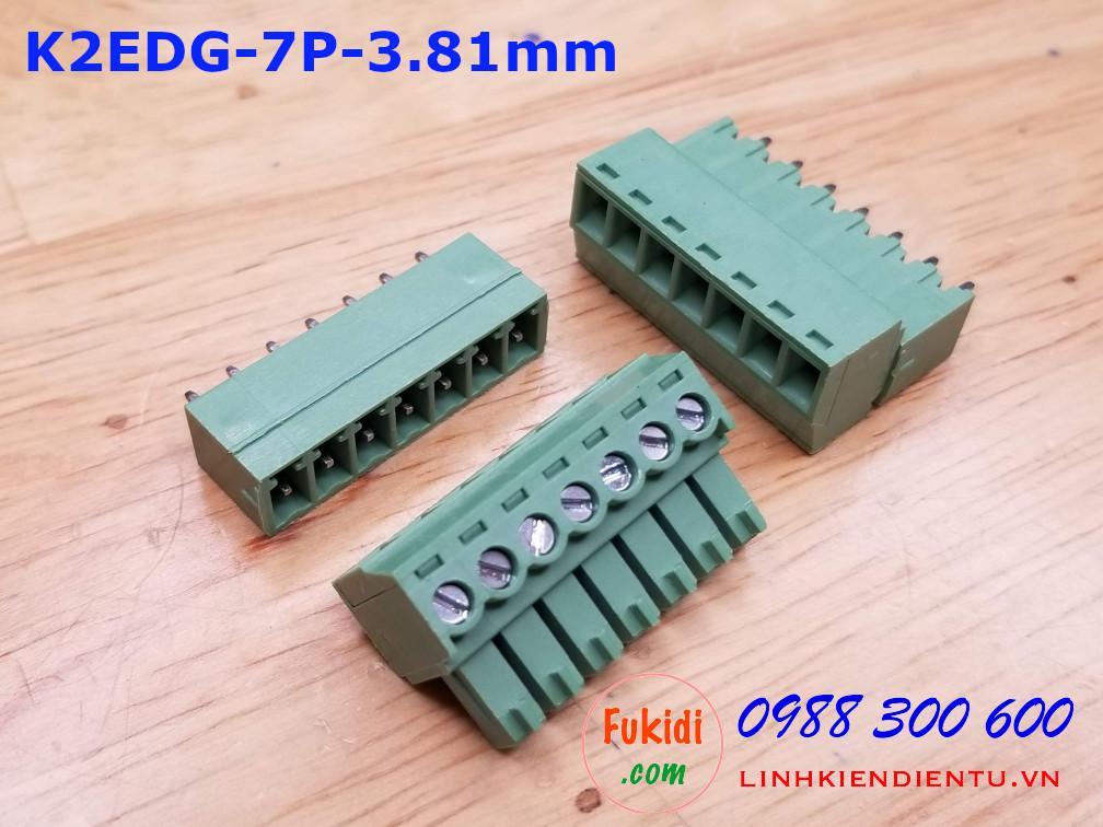 KF2EDG-7P-3.81-I: Terminal Block 7P 3.81mm straight - Jact cắm 7 chân thẳng
