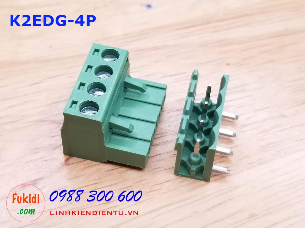 KF2EDG-4P-5.08-L: Terminal Block 4P 5.08mm curved - Jact cắm 4 chân cong