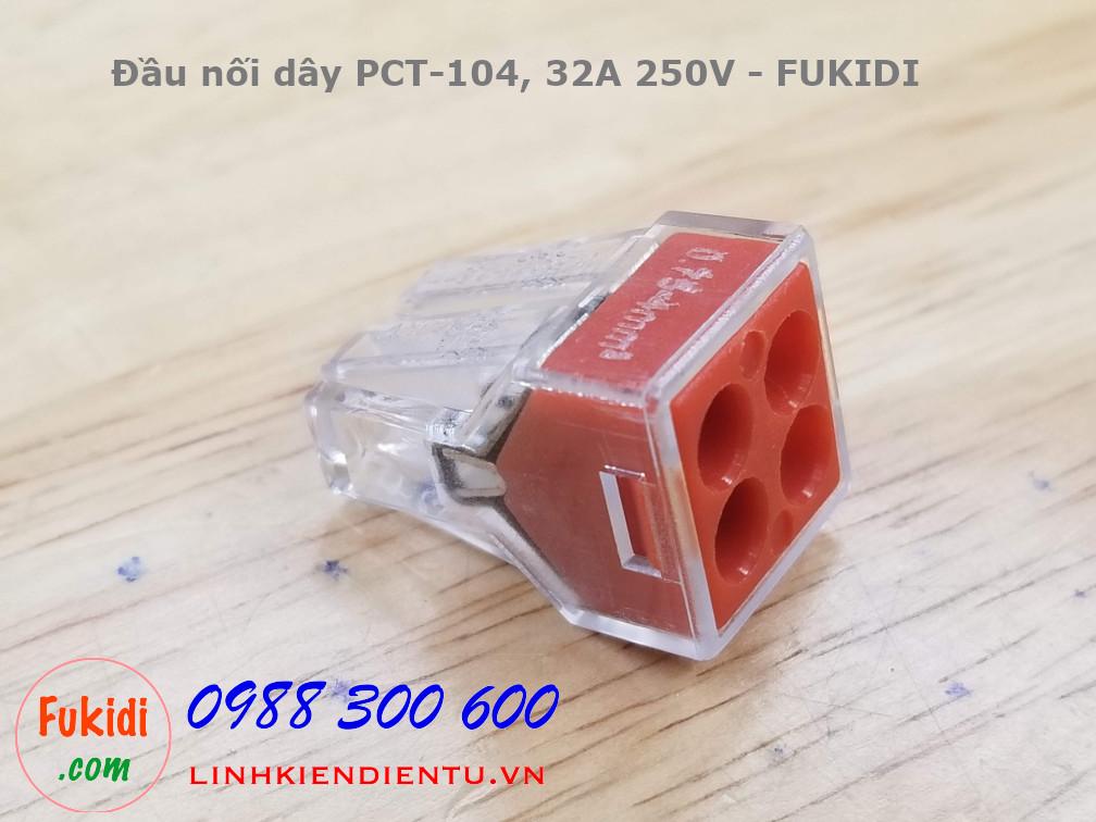 PCT-104 đầu nối dây vào một ra 3, dùng cho dây cứng (dây điện một lõi)