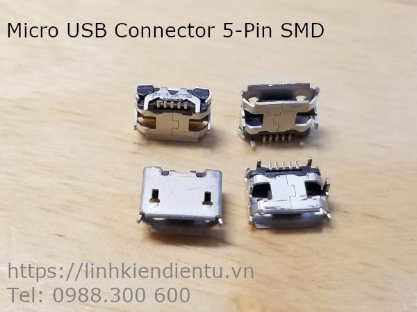 Micro USB Connector - cổng kết nối micro USB 5 chân dán