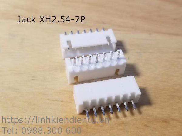 Jack cắm XH2.54-7P đực, 7 chân thẳng
