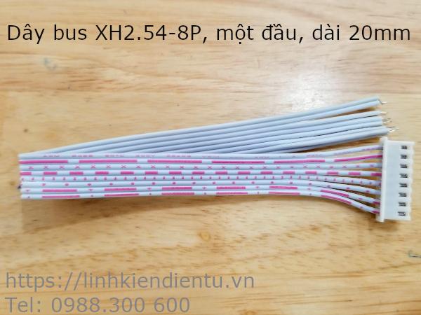 Dây bus XH2.54-8P một đầu, dài 20cm