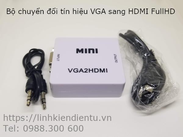 Bộ chuyển đổi tín hiệu từ VGA sang HDMI - VGA2HDMI VGA to HDMI converter mini