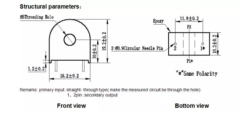 Cuộn dây CT ZMCT103C 5A/5mA