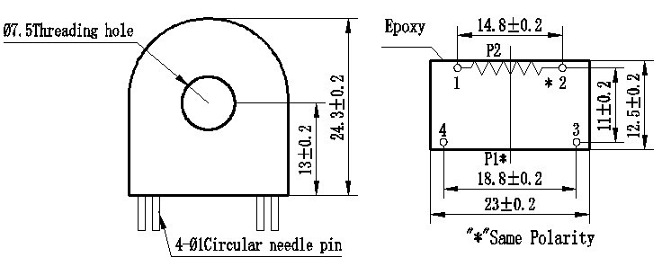 Kích thước của ZMCT118F
