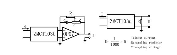 Mạch ứng dụng của ZMCT103U
