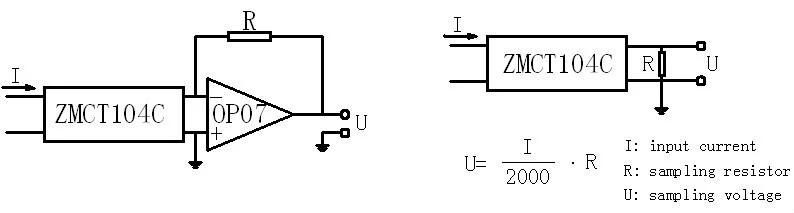 Cuộn dây CT ZMCT104C 5A/2.5mA