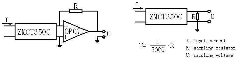 Cuộn dây CT ZMCT350C 5A/2.5mA