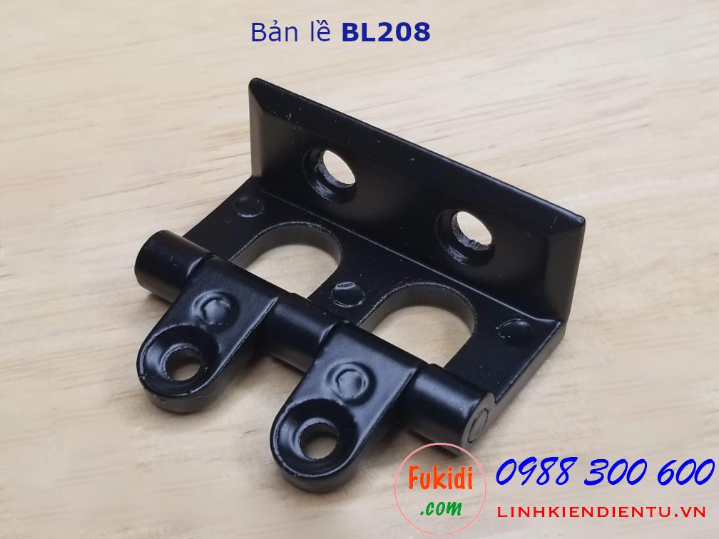 Bản lề hợp kim nhôm màu đen dài 48mm - BL208