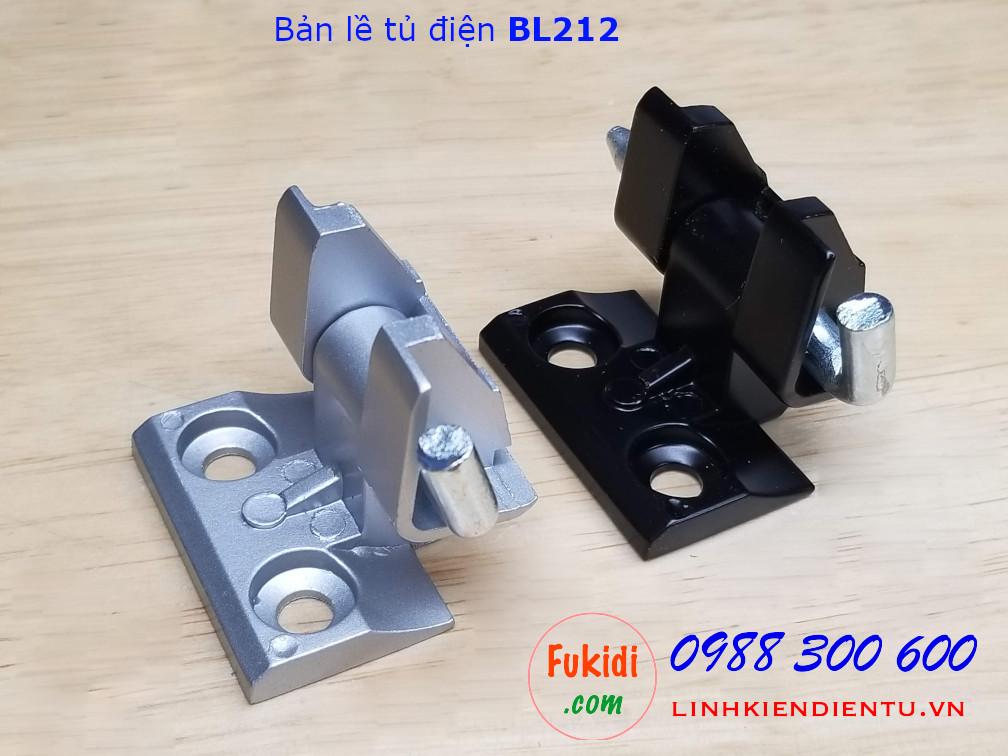 Bản lề tủ điện BL212 chất liệu nhôm nguyên khối màu đen - BL212B