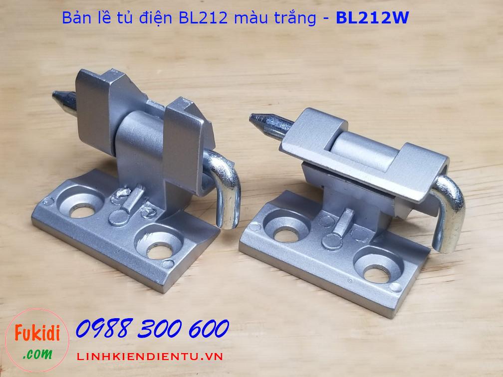 Bản lề tủ điện BL212 chất liệu nhôm nguyên khối màu trắng - BL212W