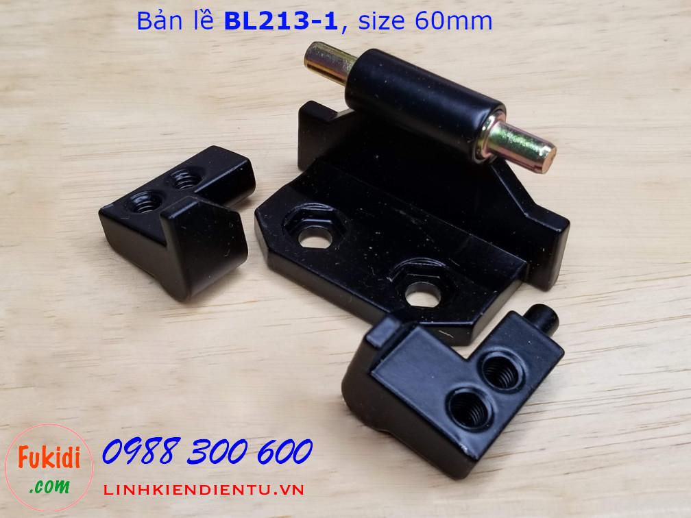 Bản lề BL213-1 chất liệu nhôm màu đen size 60mm