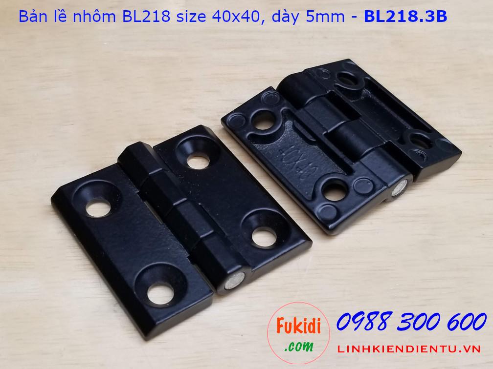 Bản lề tủ điện HL050 BL218-3 kích thước 40x40mm màu đen CL218-3B
