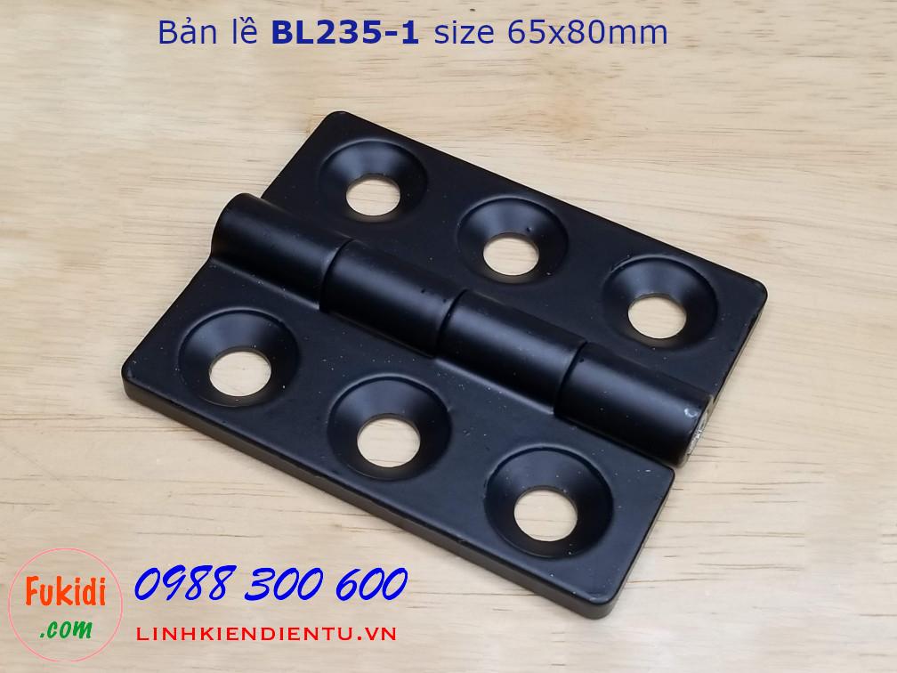 Bản lề tủ điện BL235-1 kích thước 65x80mm màu đen