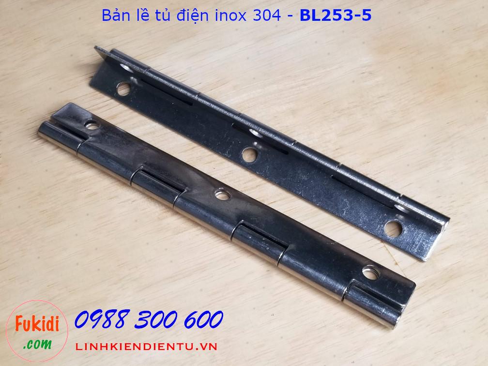 Bản lề tủ điện, bản lề lá SU304 size 32x150mm, dày 1.5mm - BL253-5