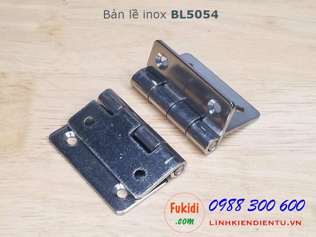 Bản lề inox kích thước 50x54mm dày 2mm - BL5054
