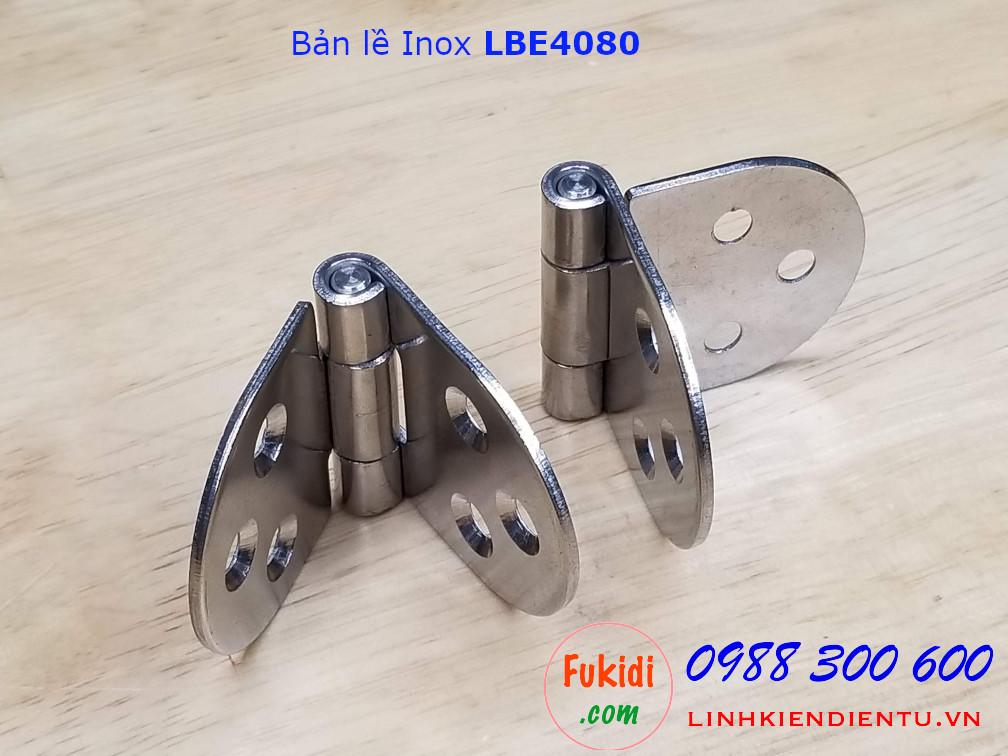 Bản lề inox 304 BLE4080 size 40x80mm dày 2mm góc hình ovan