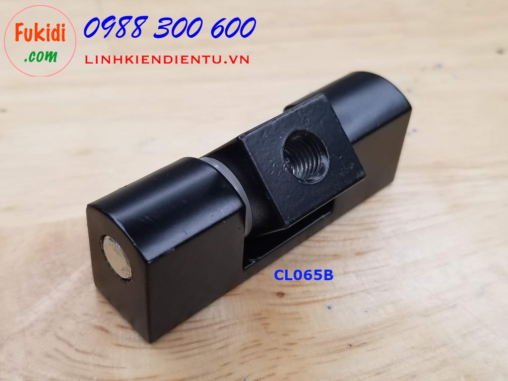 Bản lề tủ điện HL025 kích thước 63x16mm màu đen CL065B