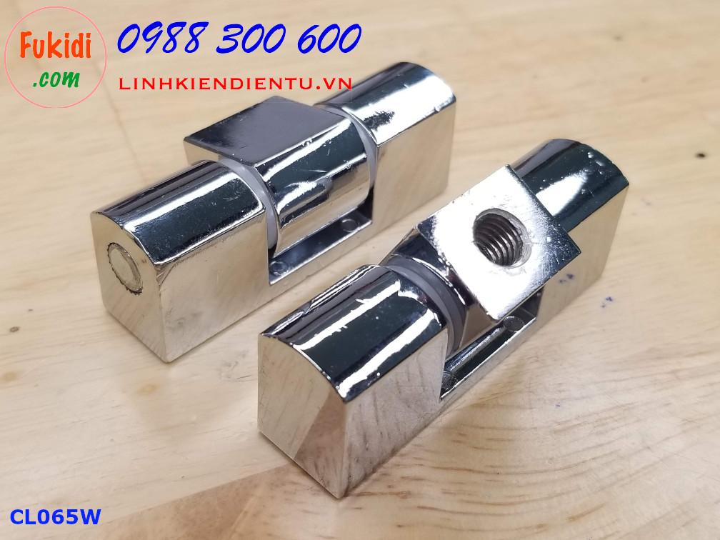 Bản lề tủ điện HL025 kích thước 63x16mm màu trắng CL065W