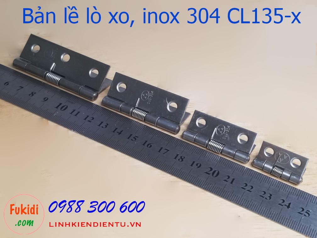 Bản lề lò xo inox 304 size 25x25mm CL135-0