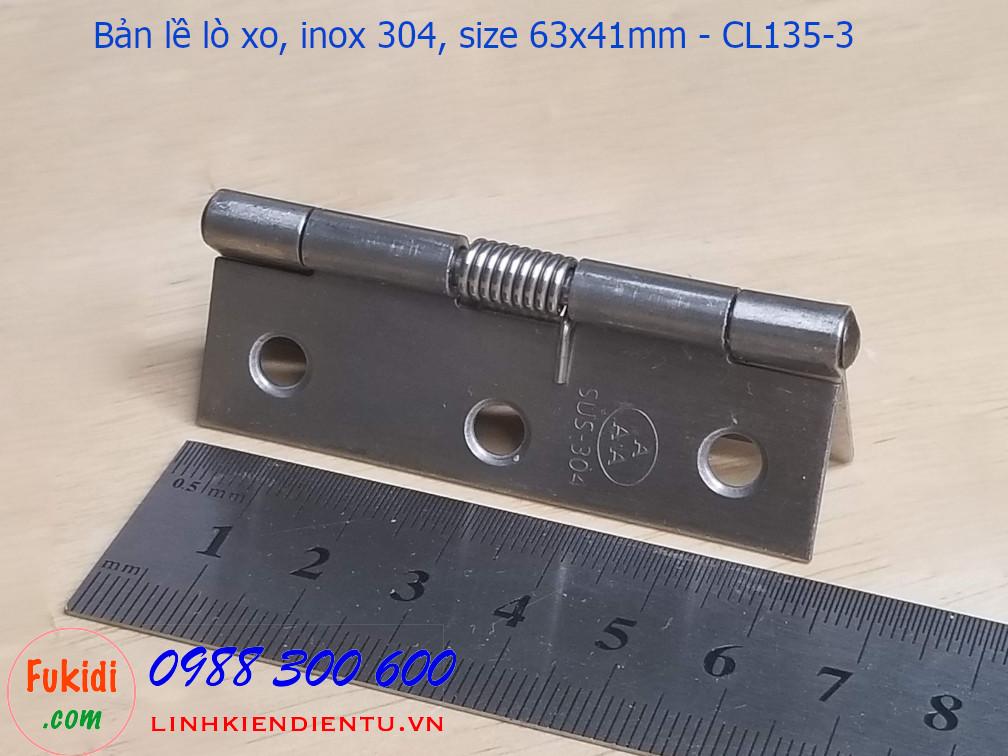 Bản lề lò xo inox 304 size 63x41mm CL135-3