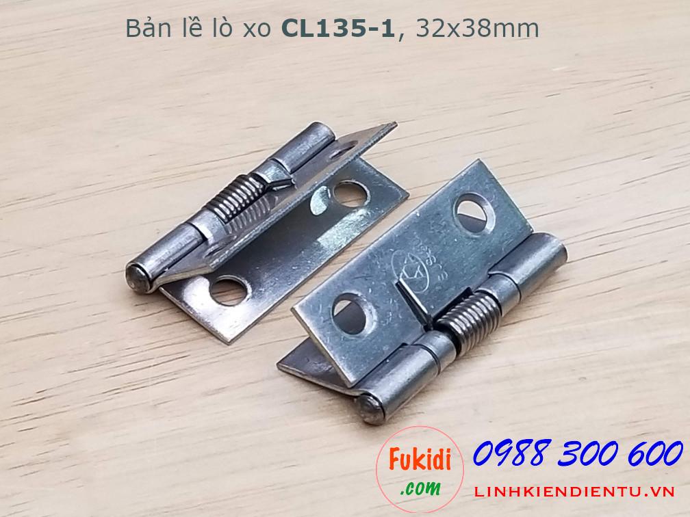 Bản lề lò xo CL135-1 chất liệu inox 304 size 32x38mm