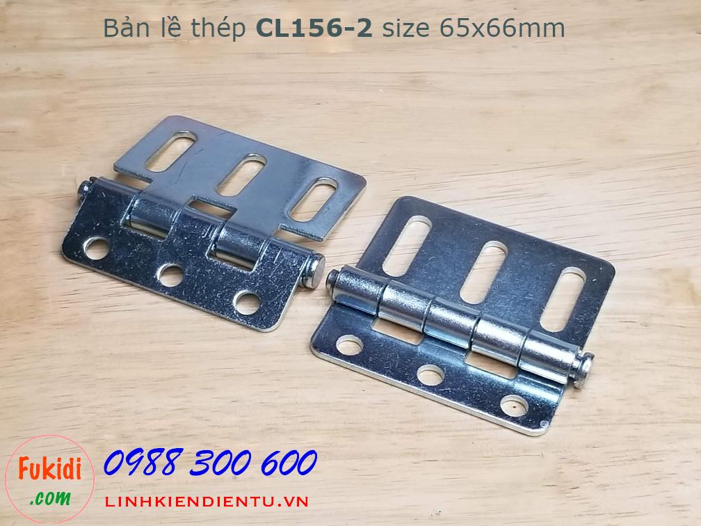 Bản lề thép CL156-2 kích thước 65x66mm, dày 2mm, màu bạc