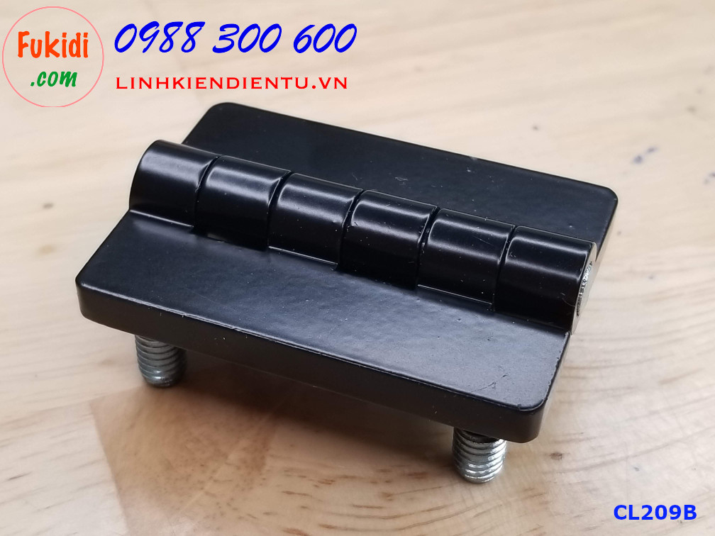 Bản lề tủ điện HL009 kích thước 54x40mm màu đen CL209B