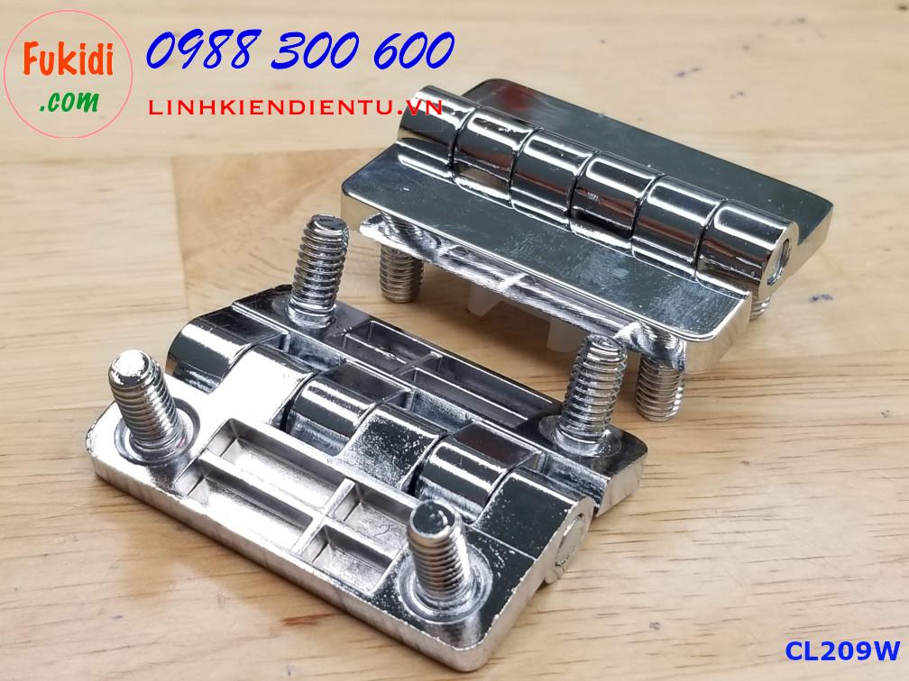 Bản lề tủ điện HL009 kích thước 54x40mm màu trắng CL209W