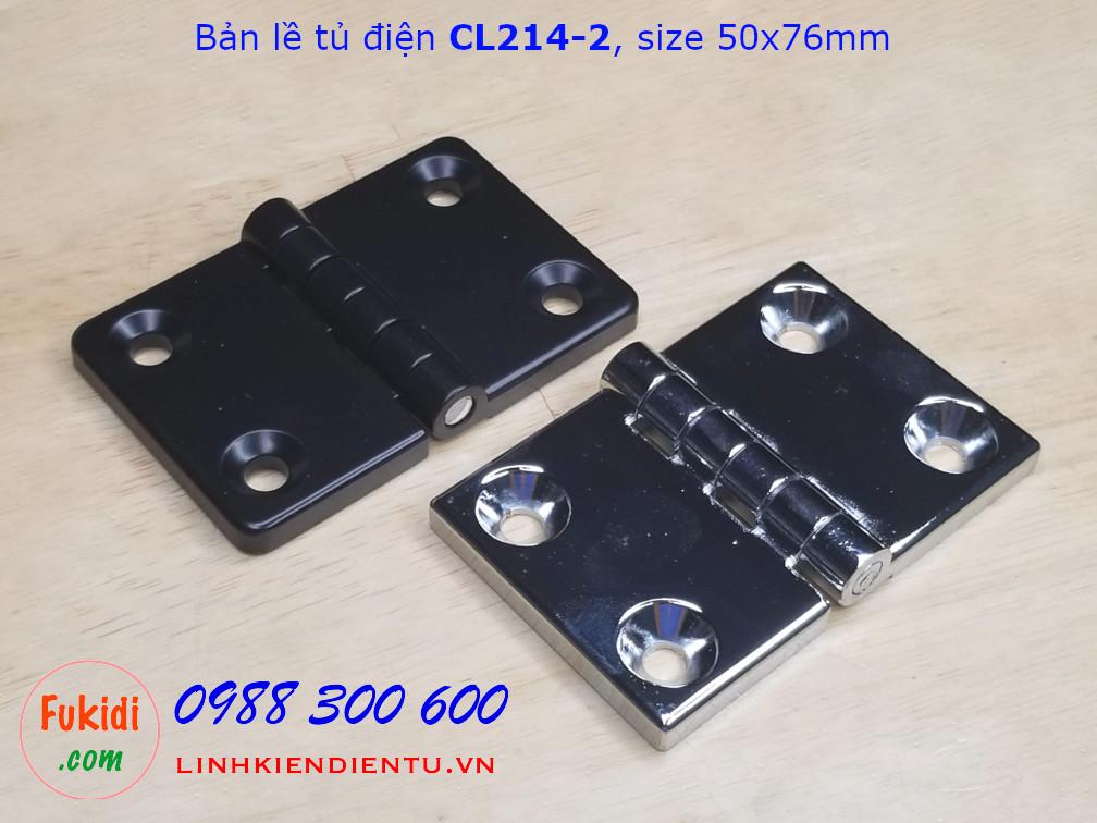 Bản lề tủ điện CL214-2 hợp kim kẽm kích thước 50x76mm màu đen - CL214-2B