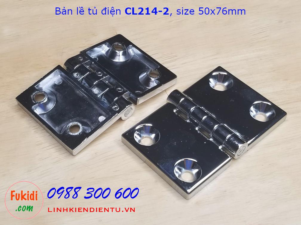 Bản lề tủ điện CL214-2 hợp kim kẽm kích thước 50x76mm màu trắng - CL214-2W