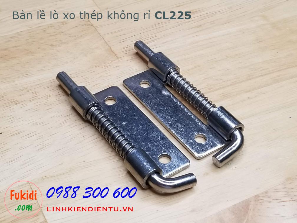 Bản lề tủ điện lò xo, thép không rỉ size 90x26.5mm dày 2mm, model CL225