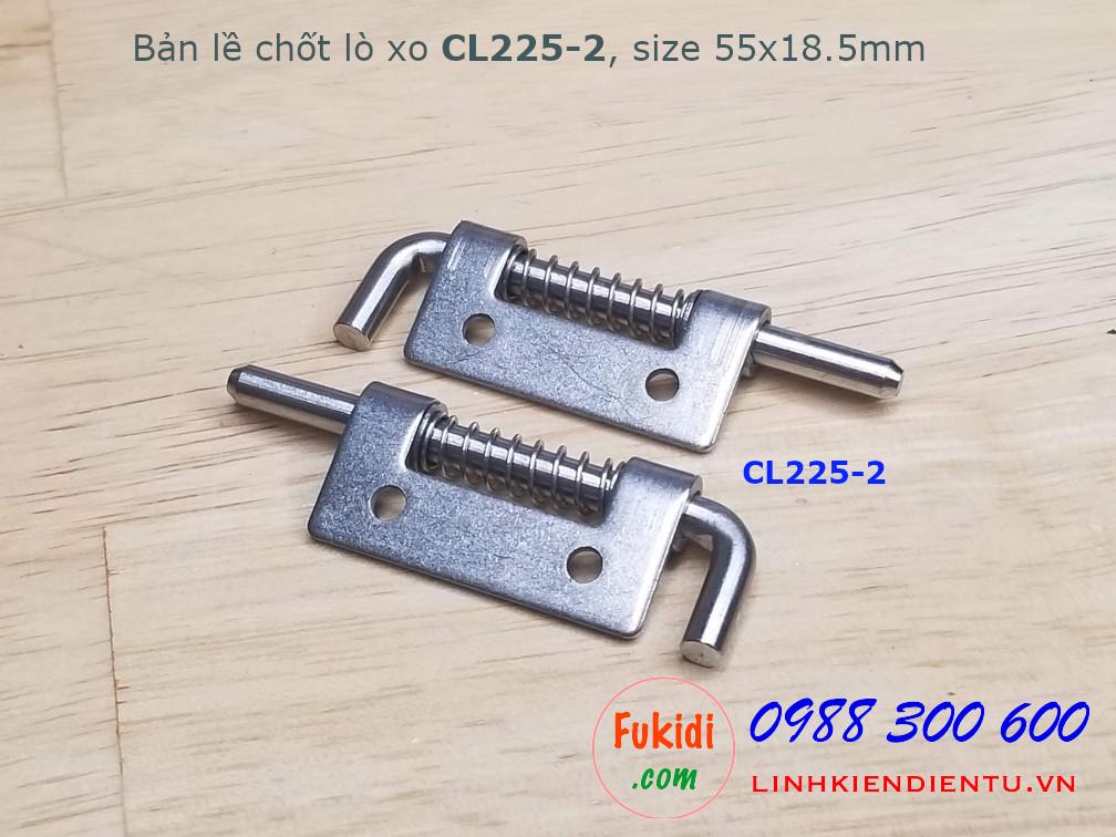 Bản lề lò xo, inox 304 size 55x18.5mm dày 1.5mm, model CL225-2