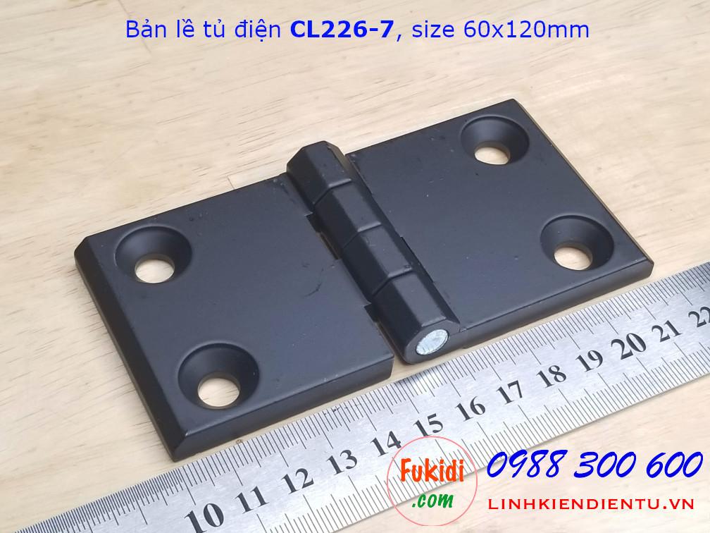 Bản lề tủ điện CL226-7 hợp kim kẽm kích thước 60x120mm màu đen