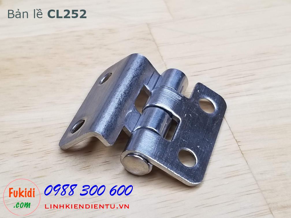 Bản lề tủ điện CL252 chất liệu inox 304 kích thước 59x21mm dày 2mm
