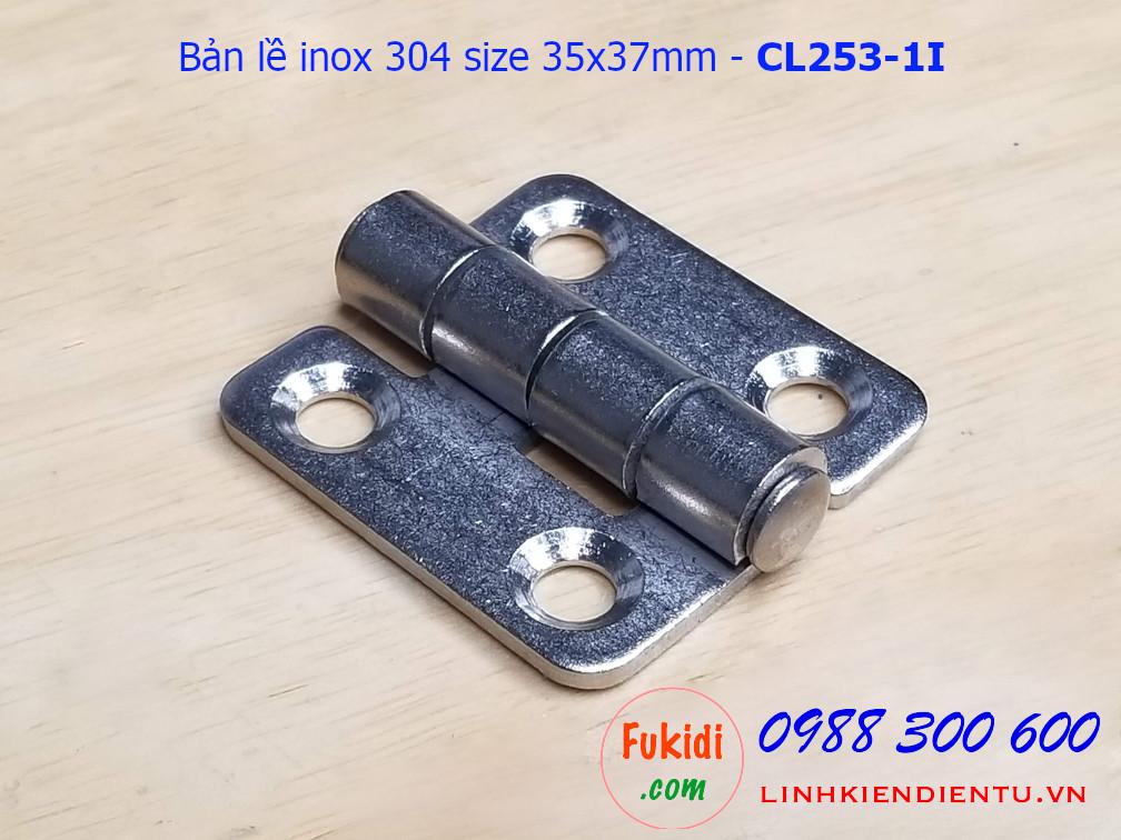 Bản lề tủ điện CL253-1 inox 304 size 35x37mm - CL253-1I