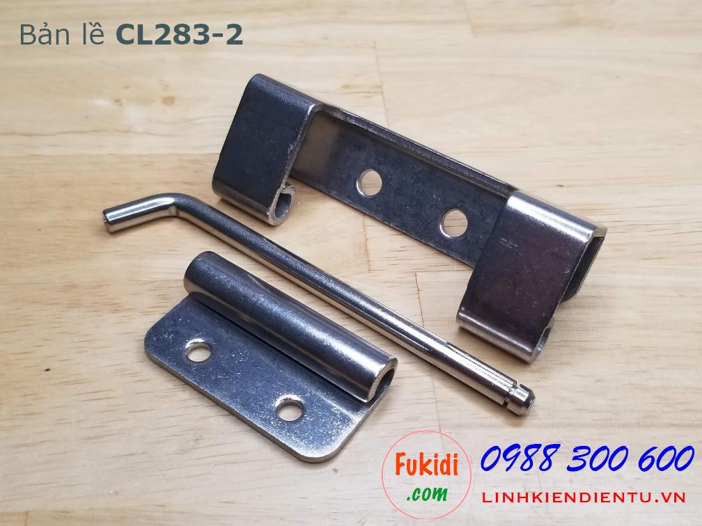 Bản lề tủ điện CL283-2 chất liệu SU304 kích thước 90x33.5mm