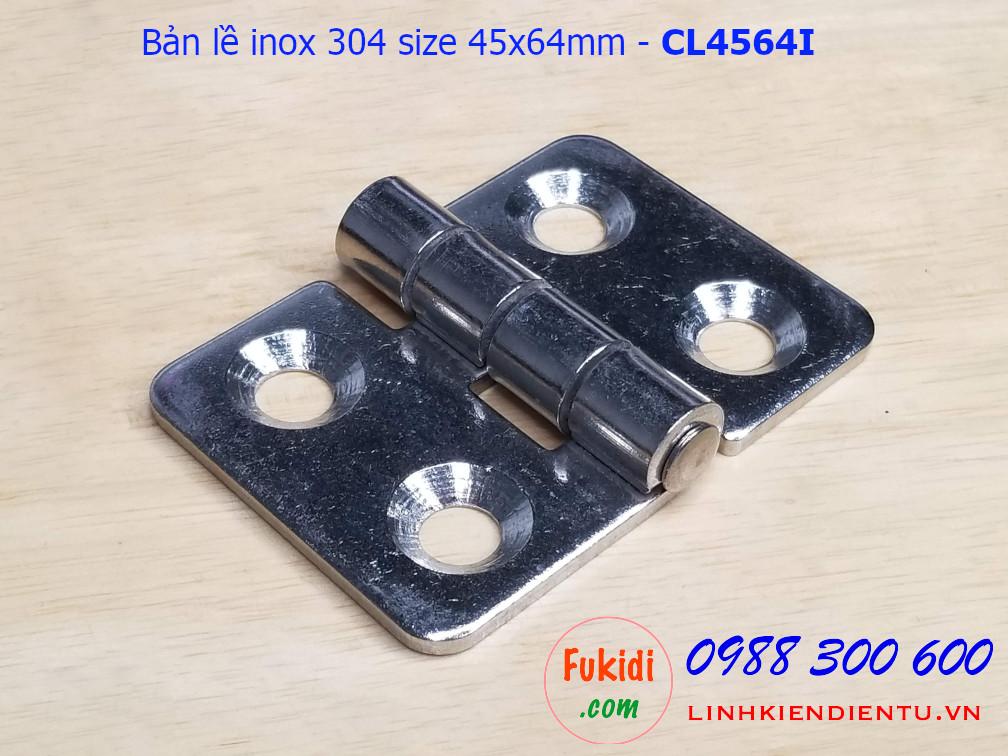 Bản lề inox 304 kích thước 45x64mm - CL4564I