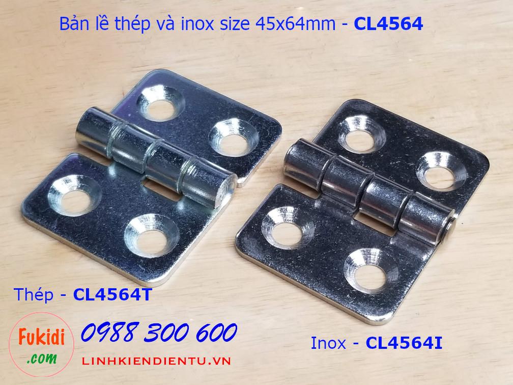 Bản lề thép kích thước 45x64mm - CL4564T