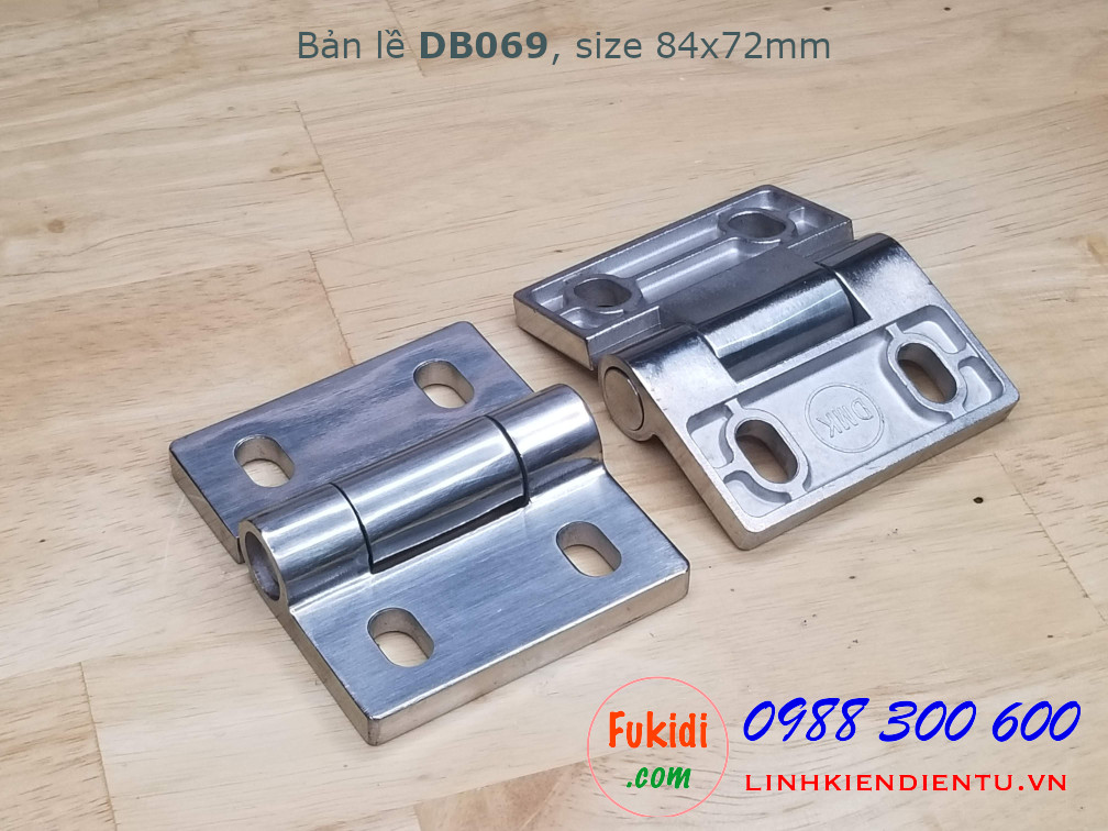 Bản lề inox 304 size 84x72mm dày 8mm - DB069