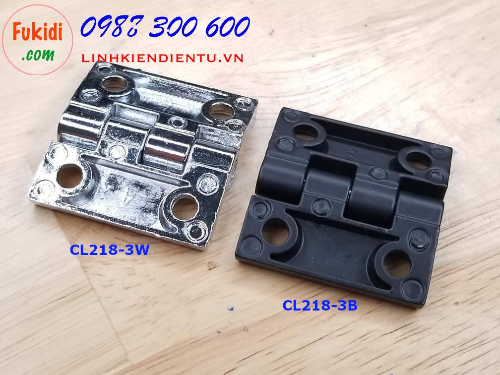 Bản lề tủ điện HL050 kích thước 40x40mm màu trắng CL218-3W