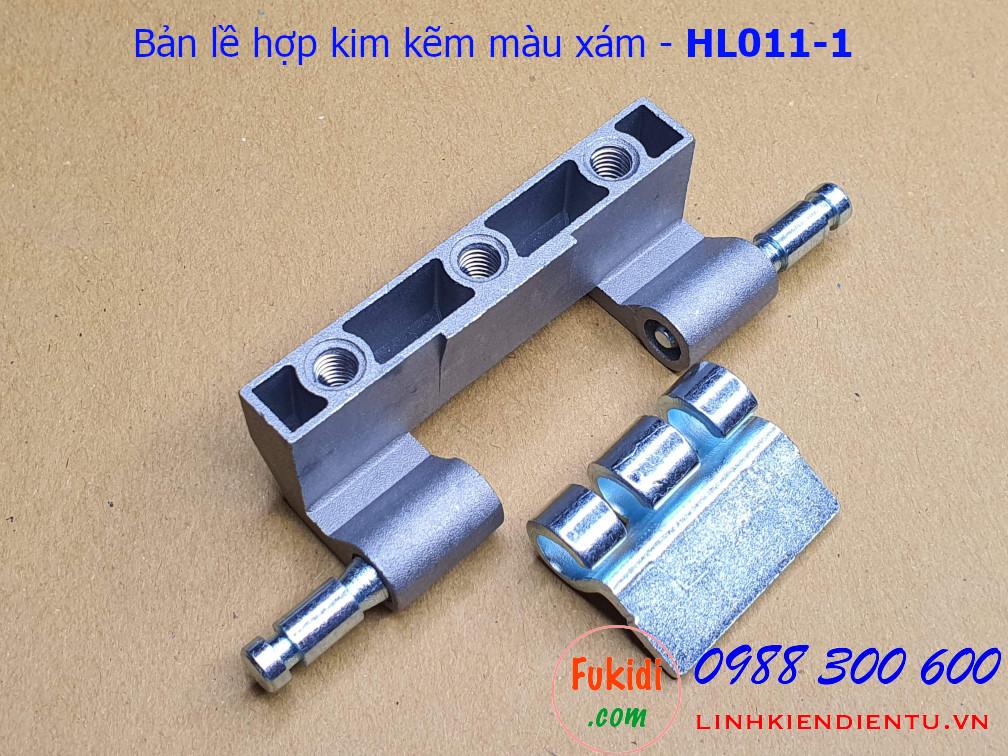 Bản lề tủ điện hengzhu HL011-1 chất liệu hợp kim kẽm màu xám dài 75mm